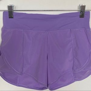 "Lululemon Like new running shorts 3"" inseam size 2"